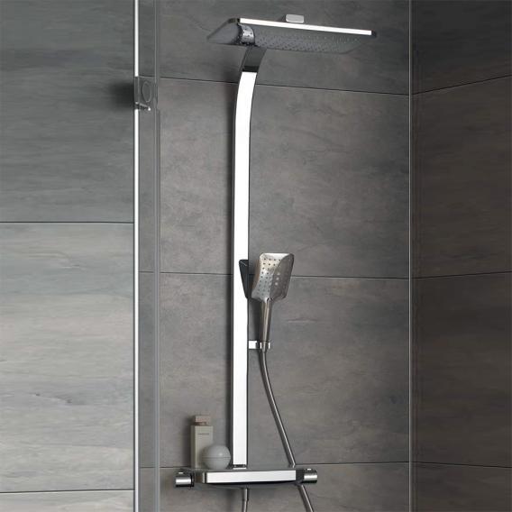 HSK AquaTray Thermostat Shower-Set mit Kopfbrause mit Schwall