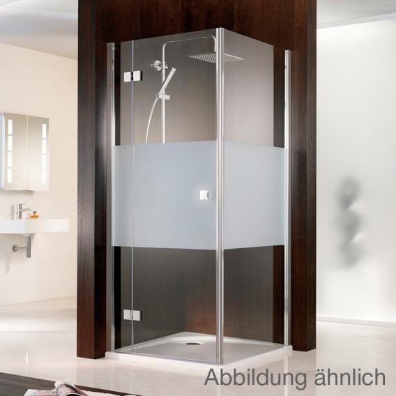 HSK Atelier Pendeltür mit Nebenteil für Seitenwand klar hell / chrom