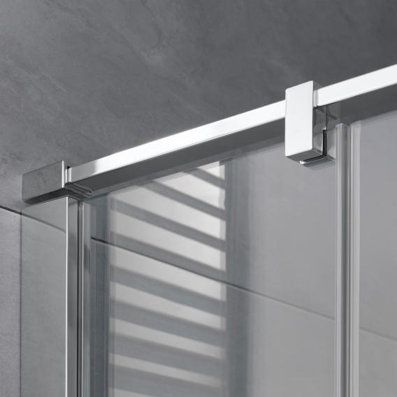 HSK Atelier Plan Pur Drehtür Eckeinstieg 4-teilig ESG klar hell Edelglas / chrom optik