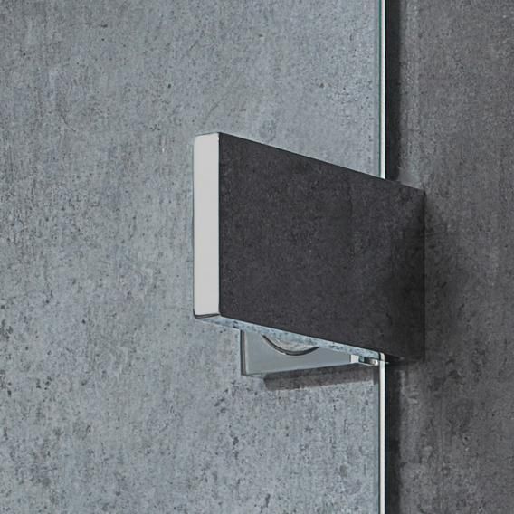 HSK Atelier Plan Pur Drehtür Viertelkreis 3-teilig ESG klar hell Edelglas / chrom optik