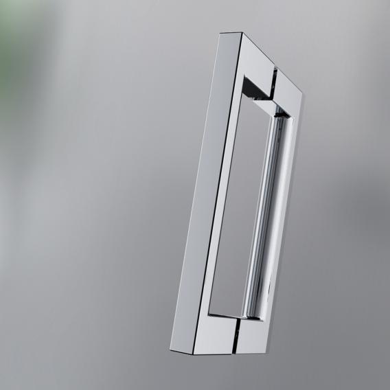 HSK Atelier Pur Drehtür + 2 Seitenteile Fünfecklösung Echtglas, klar hell / chromoptik
