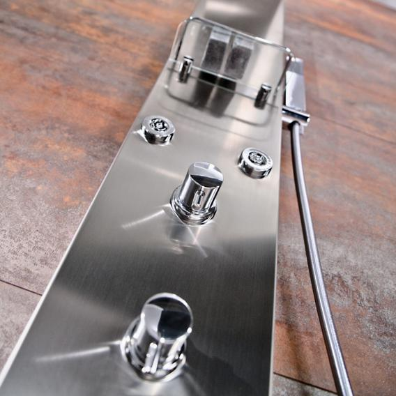 HSK Duschpaneel Lavida gekürzt B: 210 H: 1600 T: 670 mm freihängende Regentraverse edelstahl optik