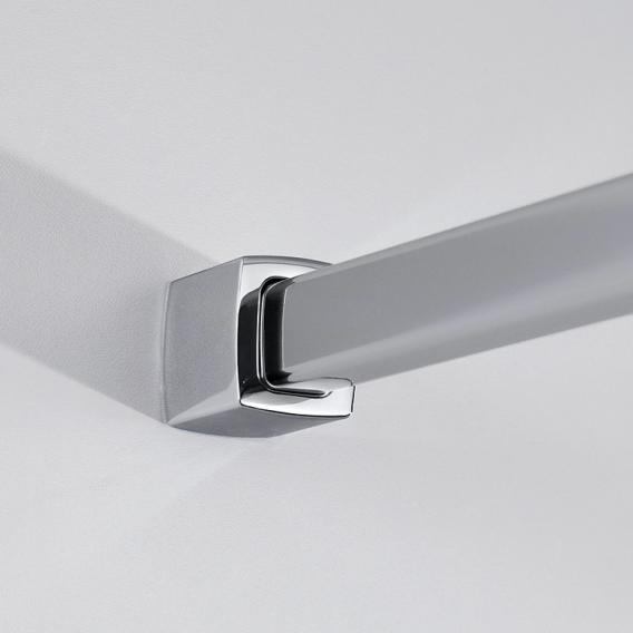 HSK Exklusiv Viertelkreis Pendeltür 4-teilig ESG klar hell mit Edelglas / silber matt