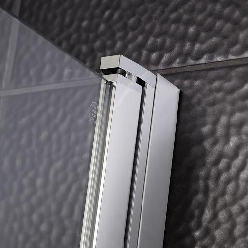 HSK Favorit Nova Drehtür für Seitenwand mit Festteil klar hell / silber matt, WEM 118,5-120,5