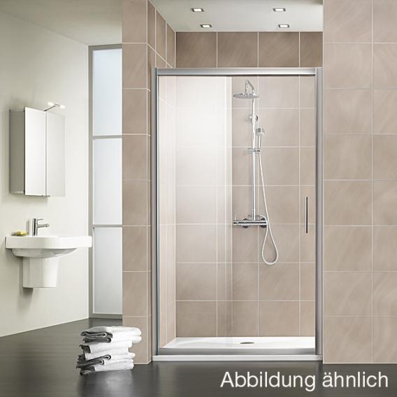 HSK Favorit Schiebetür klar hell / silber matt, WEM 117-121 cm