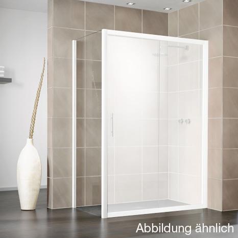HSK Favorit Seitenwand für Gleittür klar hell / silber matt, WEM 78,5-80,5 cm