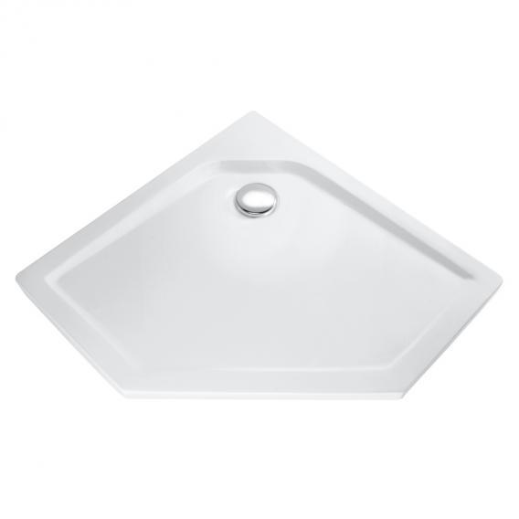 HSK Fünfeck-Duschwanne, superflach weiß
