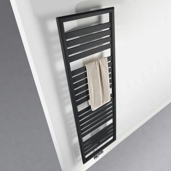 HSK Image Badheizkörper für reinen Warmwasserbetrieb graphit schwarz, 916 Watt