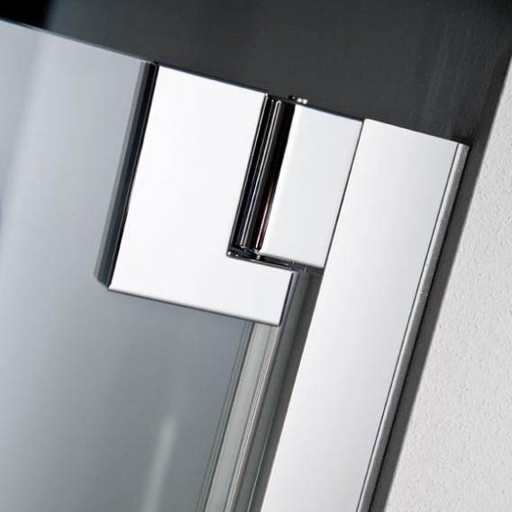 HSK K2P Drehfalttür für Seitenwand klar hell / chrom, WEM 74.5-75.5 cm