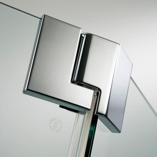 HSK K2P Fünfeck Drehtür ESG klar hell mit Edelglas / chrom optik