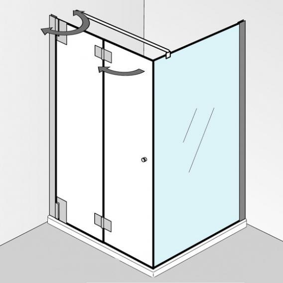 HSK K2P Seitenwand für Drehfalttür klar hell / chrom, WEM 73.5-75.5 cm