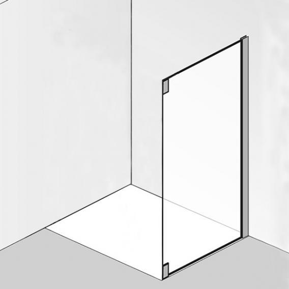 HSK K2P Seitenwand für Pendeltür mit Nebenteil ESG klar hell / chrom optik