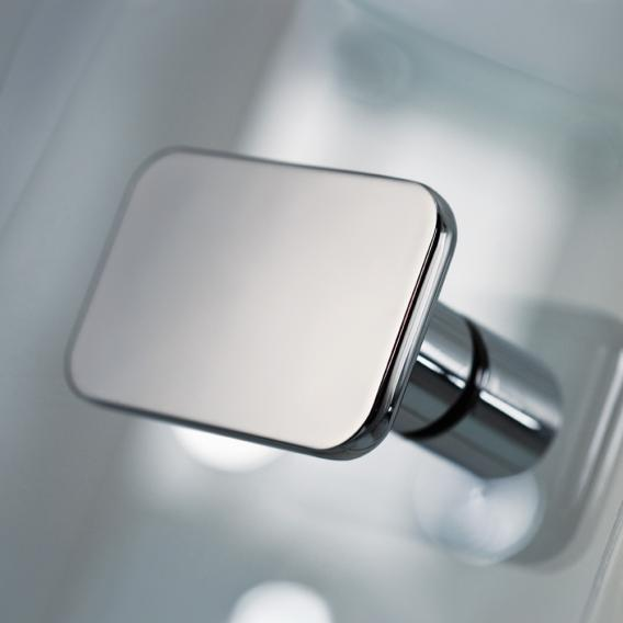 HSK Premium Softcube Drehtür Eckeinstieg 4-teilig ESG klar hell mit Edelglas / chrom optik