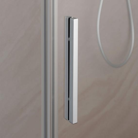 HSK Premium Softcube Schiebetür 2-teilig mit Seitenwand ESG klar hell mit Edelglas / chrom optik