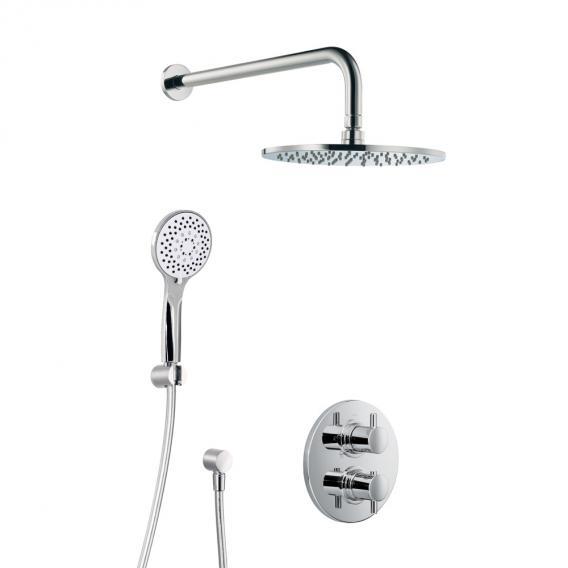 HSK Shower Set 1.04 mit Unterputz-Thermostat, Kopfbrause Ø 300 H: 8 mm