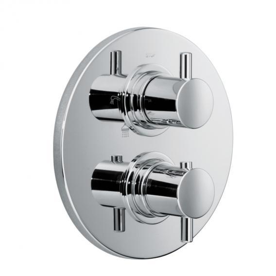HSK Shower Set 1.04 mit Unterputz-Thermostat, Kopfbrause Ø 300 H: 8 mm, Deckenarm
