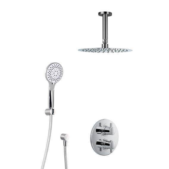 HSK Shower Set 1.04 mit Unterputz-Thermostat, Kopfbrause Ø 400 H: 2 mm, Deckenarm