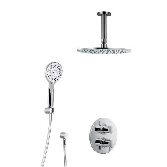 HSK Shower Set 1.04 mit Unterputz-Thermostat, Kopfbrause Ø 400 H: 8 mm, Deckenarm