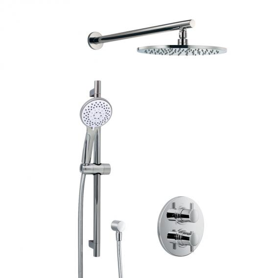 HSK Shower Set 1.05 mit Unterputz-Thermostat, Kopfbrause Ø 400 H: 8 mm, Wandarm