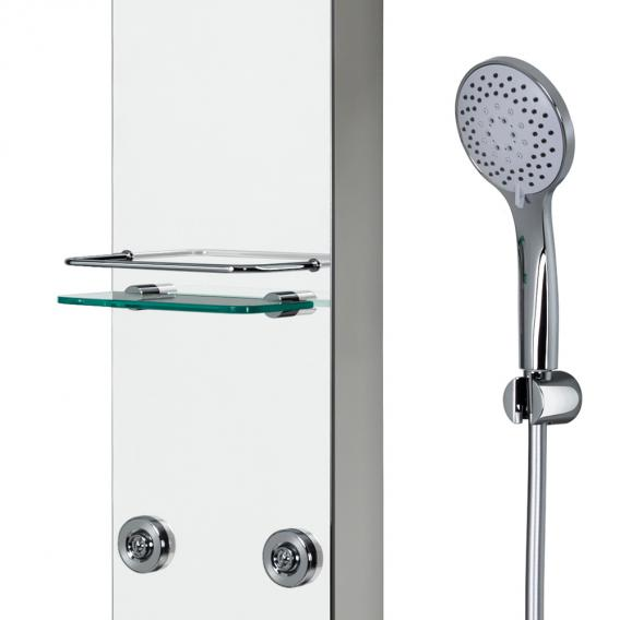HSK Softcube Duschpaneel B: 220 H: 1500 mm mit Kopfbrause Ø 300 H: 8 mm Glas verspiegelt
