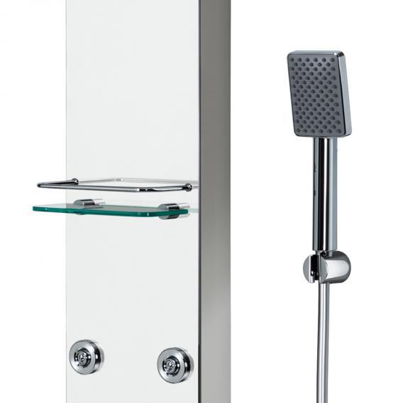 HSK Softcube Duschpaneel B: 220 H: 1500 mm mit Kopfbrause B: 300 T: 200 mm Glas verspiegelt