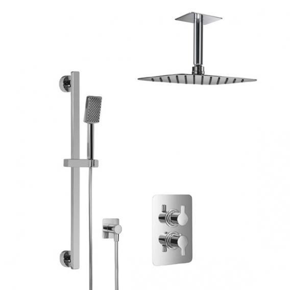 HSK Softcube Shower Set 2.05 mit Kopfbrause B: 300 H: 2 T: 200 mm, mit Deckenarm