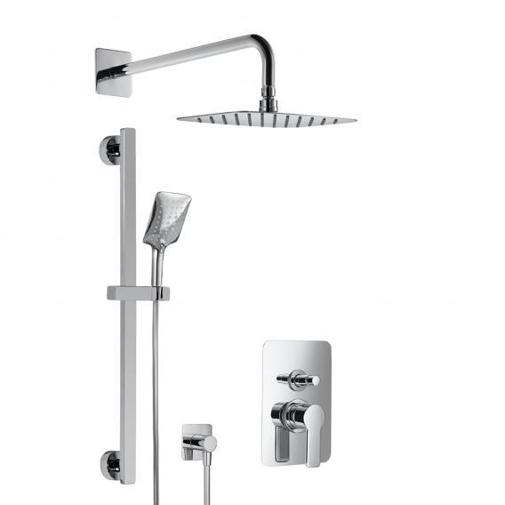 HSK Softcube Shower Set 2.25, Wandarm gebogen, Kopfbrause super-flach