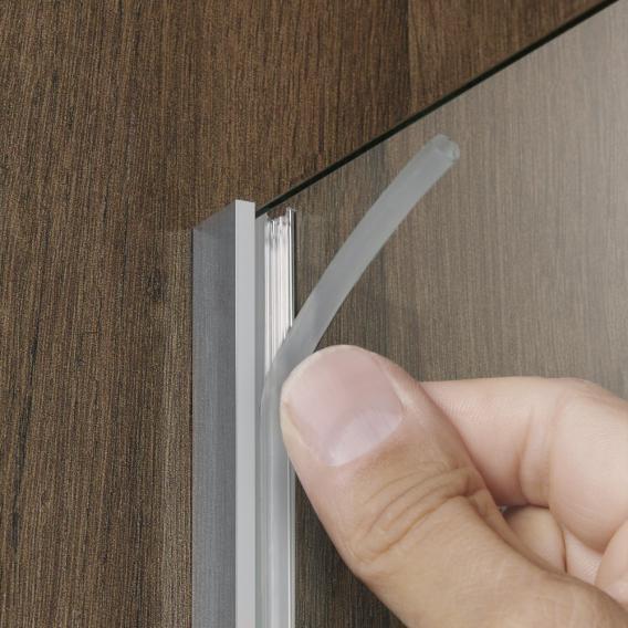HSK Walk In Pro Frontelement mit Wandprofil ESG klar hell mit Edelglas / chrom optik