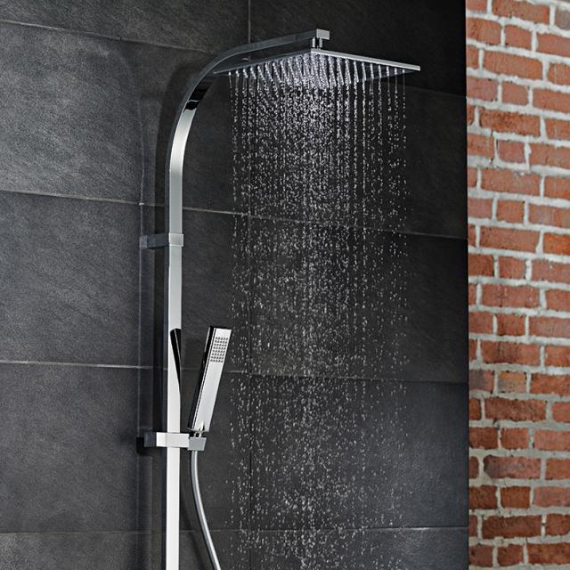 HSK AquaSwitch RS 500 Thermostat Shower-Set mit Kopfbrause flach schwarz