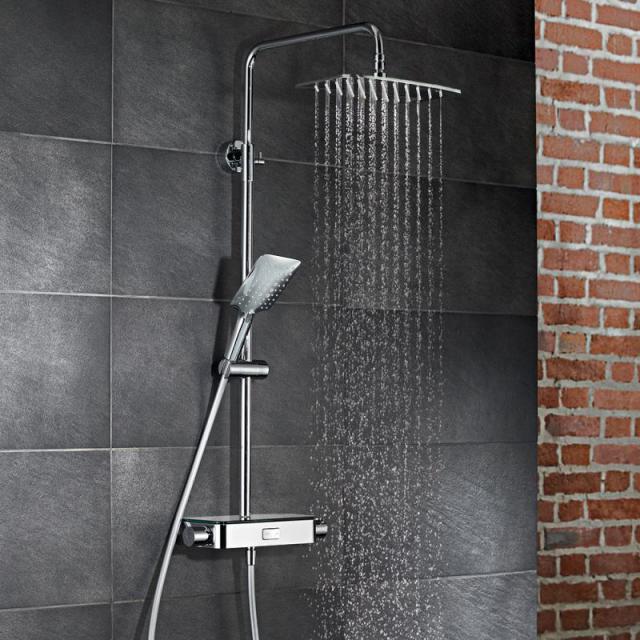 HSK AquaSwitch Softcube Thermostat Shower-Set mit Kopfbrause super-flach schwarz