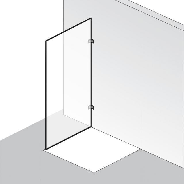 HSK Atelier Pur Seitenwand für Pendeltür ESG klar hell / chrom optik