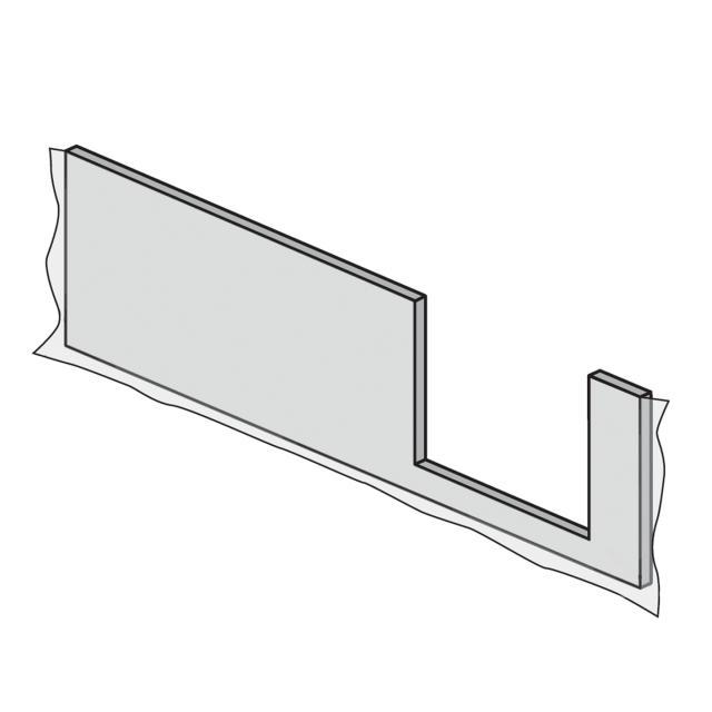 HSK Dobla Frontschürze Einstieg rechts L: 170 cm