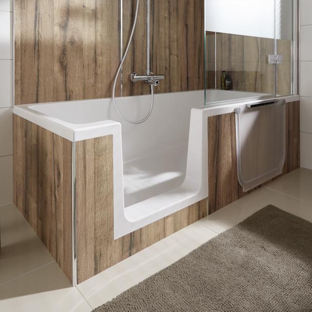 HSK Dobla Rechteck-Badewanne mit Duschzone, Einbau