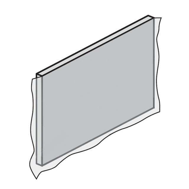 HSK Dobla Seitenschürze B: 75 cm