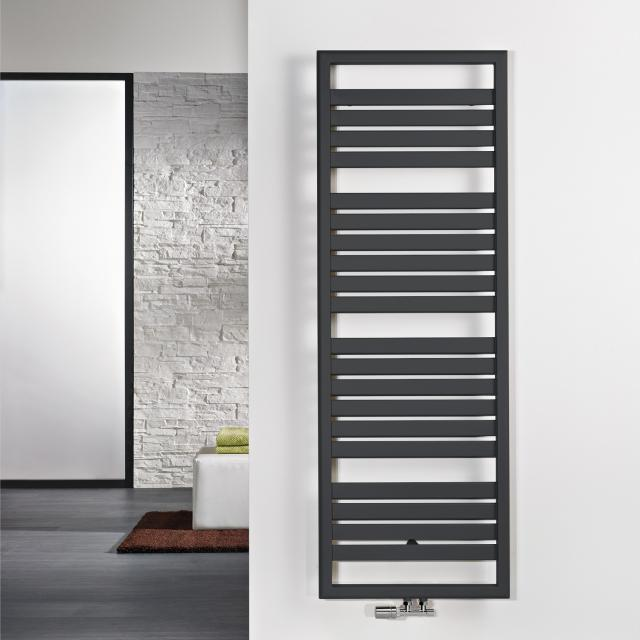 HSK Image Badheizkörper für reinen Warmwasserbetrieb graphit schwarz, 662 Watt