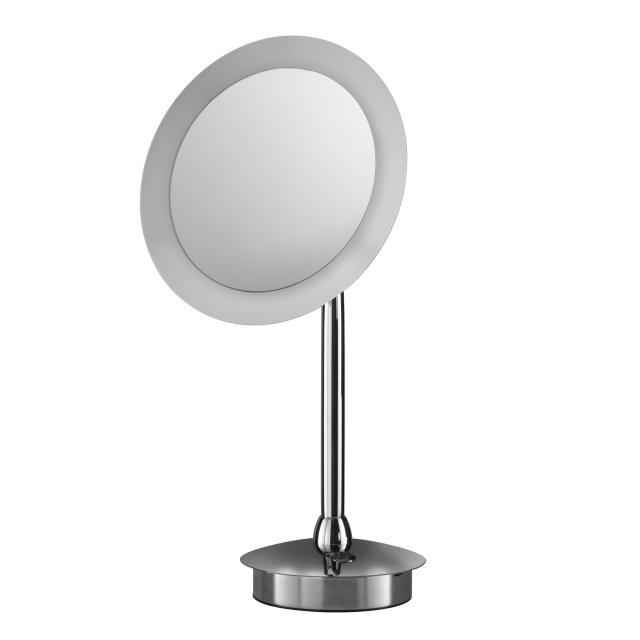 HSK LED Kosmetikspiegel mit Sensor-Schalter, Batterie, 5-fache Vergrößerung