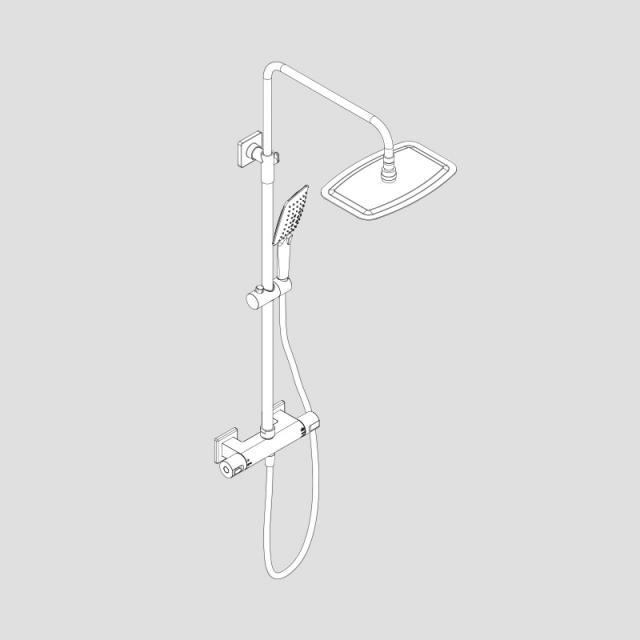 HSK RS Softcube Thermostat Shower-Set mit Kopfbrause super-flach