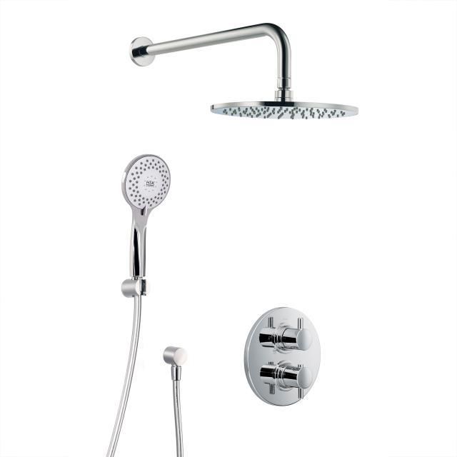HSK Shower Set 1.04, Wandarm gebogen, Kopfbrause flach