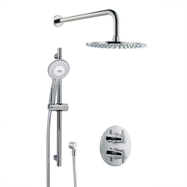 HSK Shower-Set 1.05, Wandarm gebogen, Kopfbrause flach