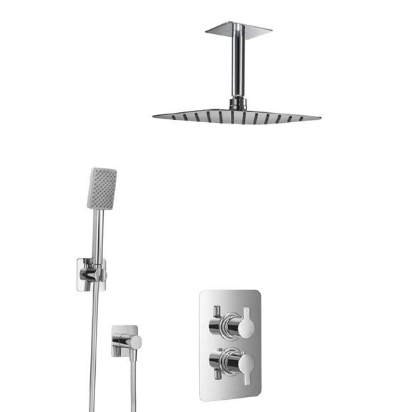HSK Softcube Shower Set 2.04, mit Deckenarm, Kopfbrause super-flach