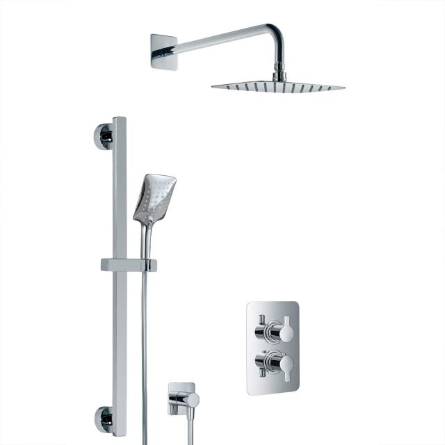 HSK Softcube Shower Set 2.05, Wandarm gebogen, Kopfbrause super-flach