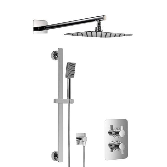 HSK Softcube Shower Set 2.05, Wandarm gerade, Kopfbrause super-flach
