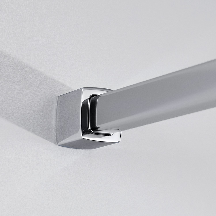hsk exklusiv seitenwand f r dreht r mit handtuchhalter mittig mattiert chrom optik wem 73 5. Black Bedroom Furniture Sets. Home Design Ideas