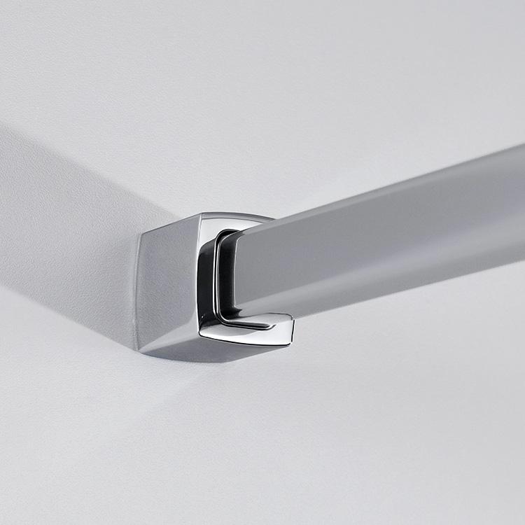hsk exklusiv seitenwand f r dreht r mit handtuchhalter klar hell chrom optik wem 88 5 90 5 cm. Black Bedroom Furniture Sets. Home Design Ideas
