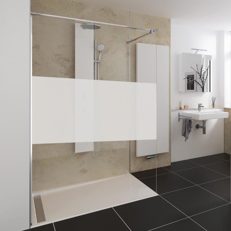 hsk pro concept walk in duschwand 1 teilig esg mittig mattiert edelglas chrom 1734140 41. Black Bedroom Furniture Sets. Home Design Ideas