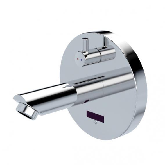 Conti+ lino WV10 Click Waschtischarmatur mit IR-Sensor, mit Temperaturregulierung, batteriebetrieben Ausladung: 120 mm