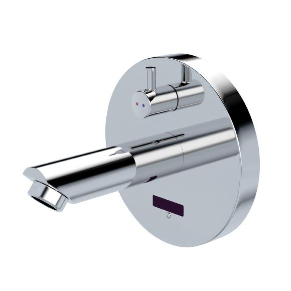 Conti+ lino WV10 Click-plus Waschtischarmatur mit IR-Sensor, mit Temperaturregulierung, batteriebetrieben Ausladung: 120 mm