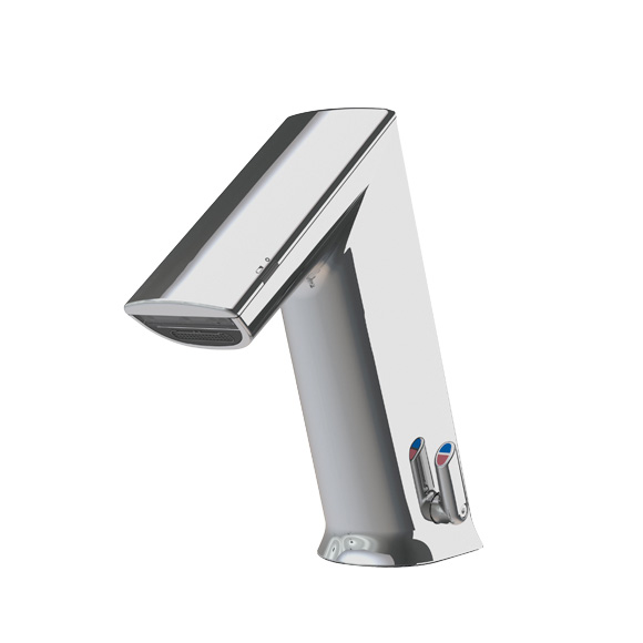 Conti+ ultra GM10 PUBLIC Waschtischarmatur mit IR-Sensor, mit Temperaturregulierung batteriebetrieben, ohne Ablaufgarnitur