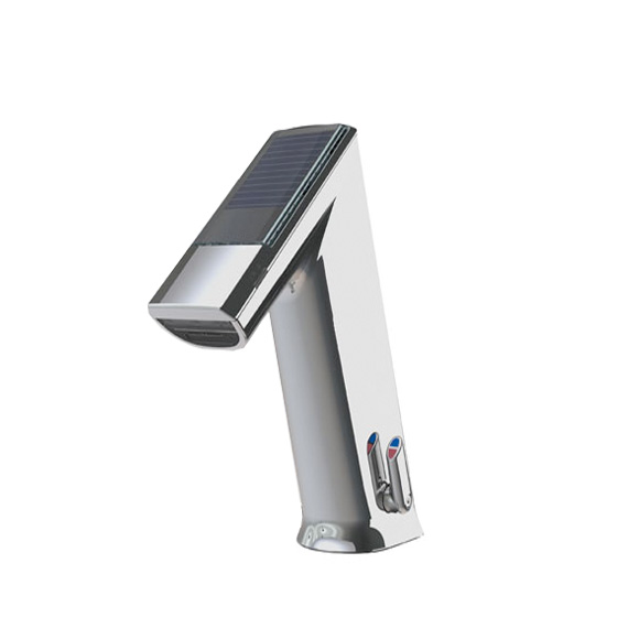 Conti+ ultra GM10 PUBLIC Waschtischarmatur mit IR-Sensor, mit Temperaturregulierung solarbetrieben, mit Ablaufgarnitur