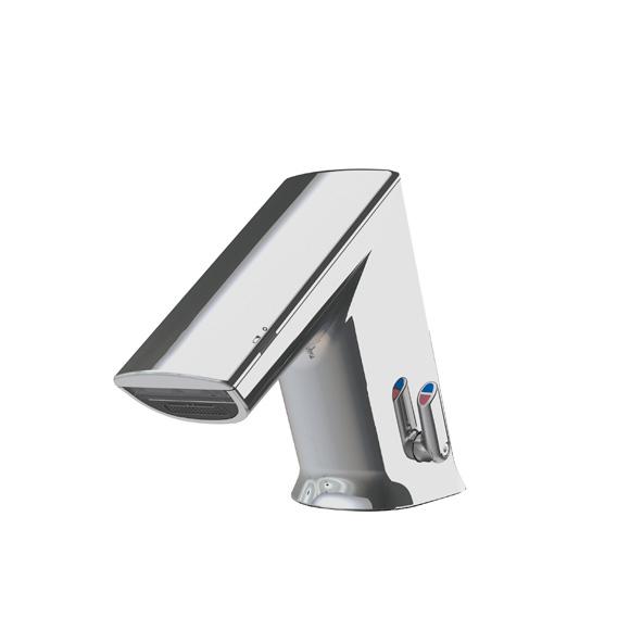Conti+ ultra GS10 PUBLIC Waschtischarmatur mit IR-Sensor, mit Temperaturregulierung batteriebetrieben